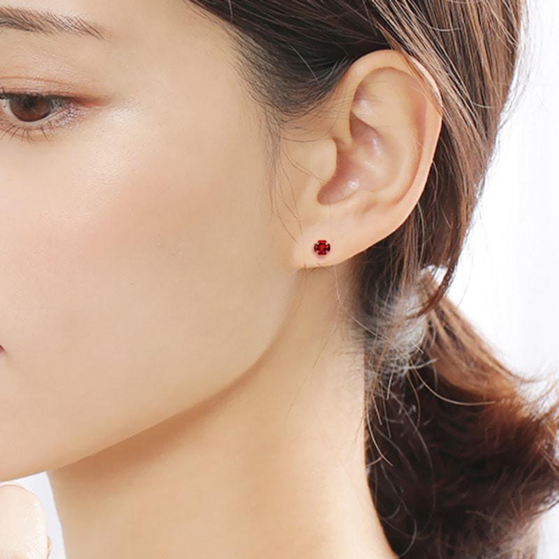 1f9b98cfff9 ... 14K 로이드 가넷 큐빅 귀걸이 [당일출고]